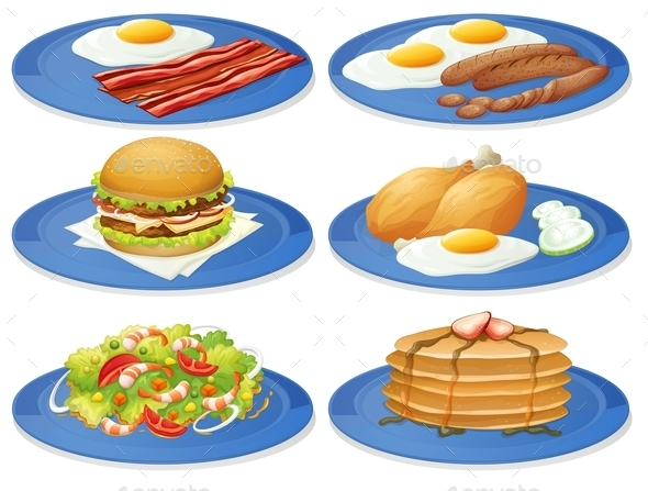Breakfast - Food Objects