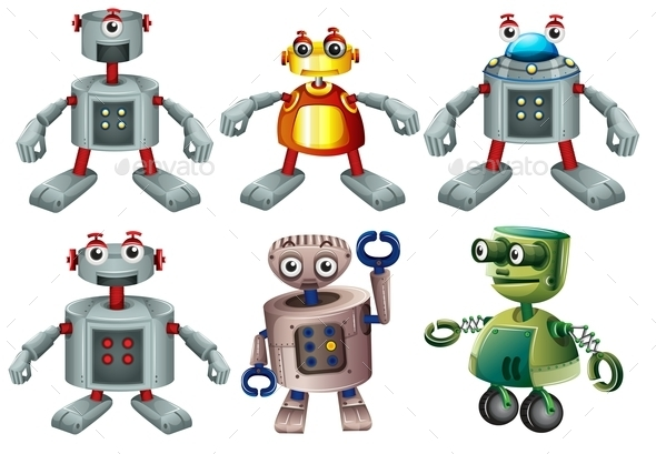 Six Robots - Man-made Objects Objects