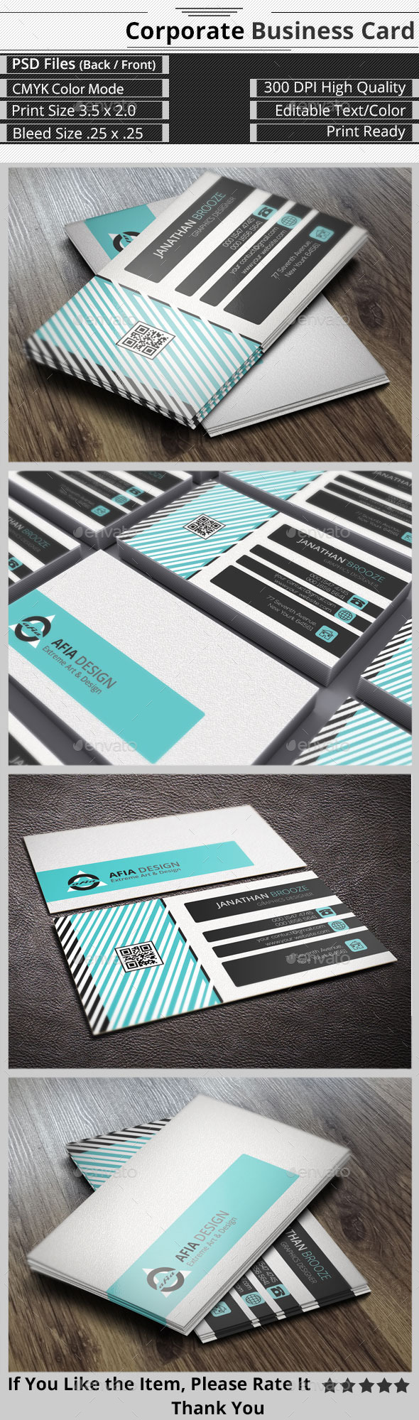 Smart & Creative  Corporate Business Card - Corporate Business Cards