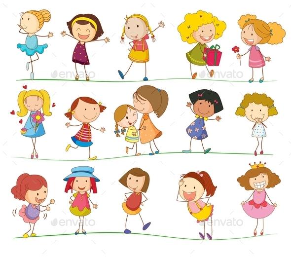 Simple Kids - People Characters