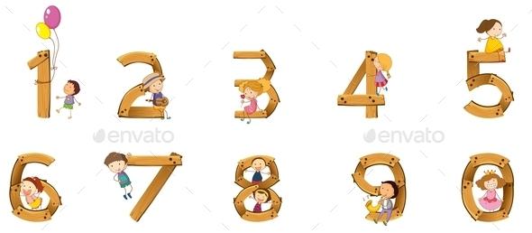 Numbers to Ten - Miscellaneous Vectors