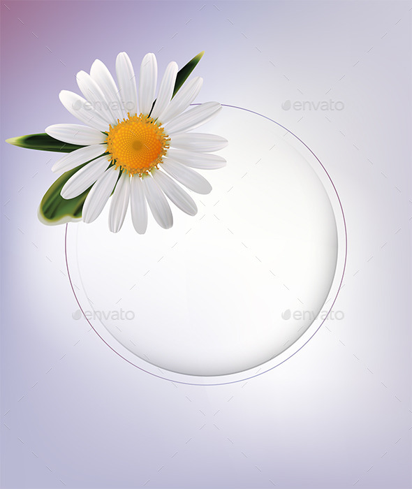 Abstract Background with Daisy - Backgrounds Decorative