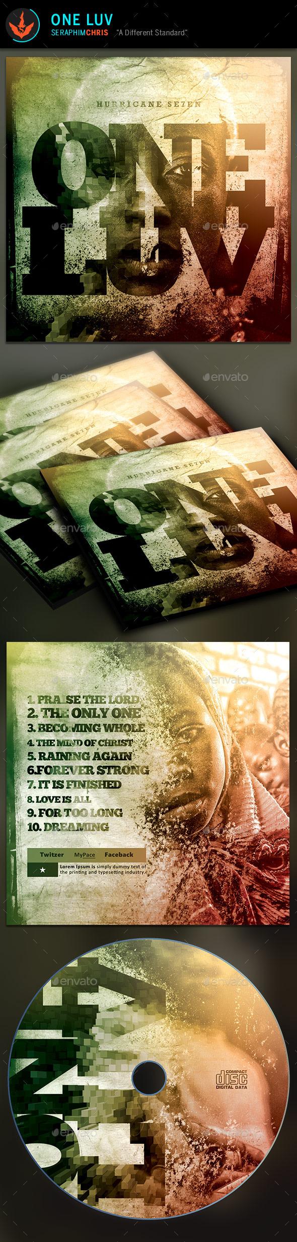 One Love: CD Artwork Template - CD & DVD Artwork Print Templates