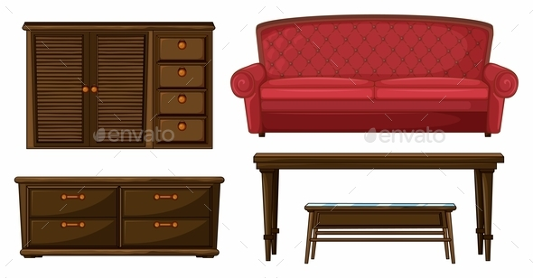 A Living Room Set - Man-made Objects Objects