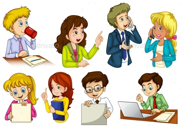 Different People working in an Office - People Characters