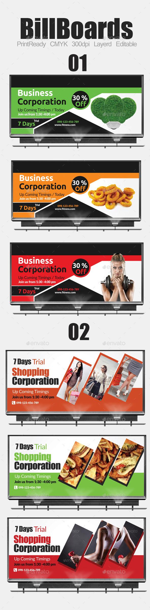 Multi Purpose Business Billboard Bundle - Signage Print Templates