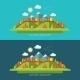 Flat Design Autumn Nature Landscape Illustrations - GraphicRiver Item for Sale
