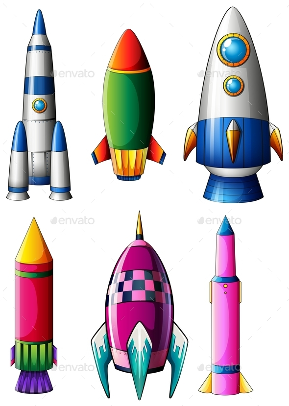 Different Rocket Designs - Man-made Objects Objects