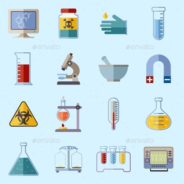 Laboratory Equipment Icons - Technology Icons