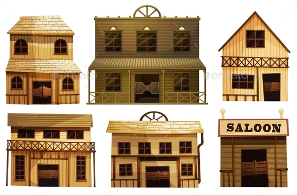 Saloon Bars in the West - Buildings Objects