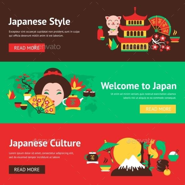 Japan Banner Set - Travel Conceptual