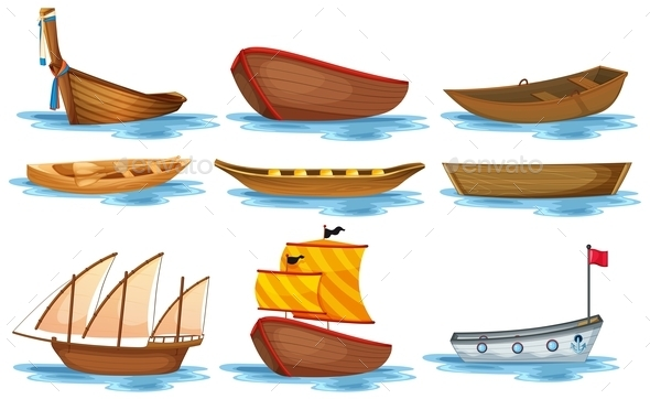 Boat Set - Man-made Objects Objects