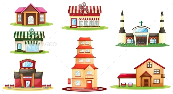 Various Houses - Buildings Objects