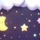 Cute Moon And Stars - VideoHive Item for Sale
