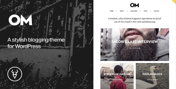OM – A stylish blogging theme for WordPress