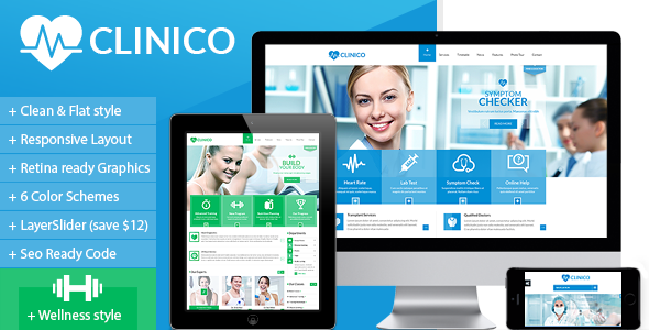 Clinico – Responsive Medical and Health Template