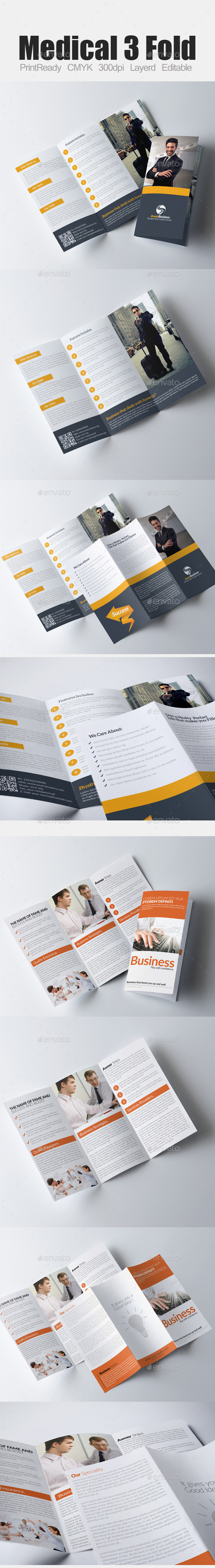 Tri Fold Business Bundle - Corporate Brochures