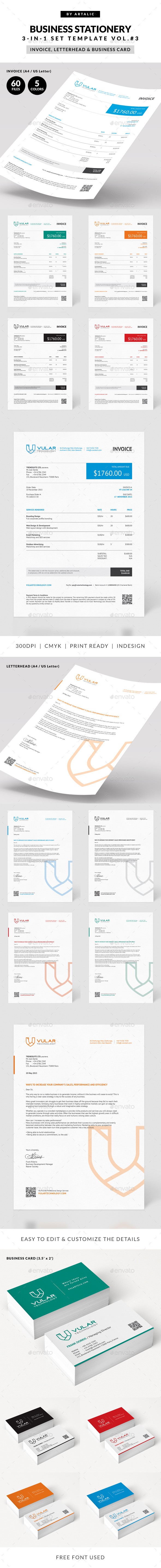Invoice 3-in-1 Set - Proposals & Invoices Stationery