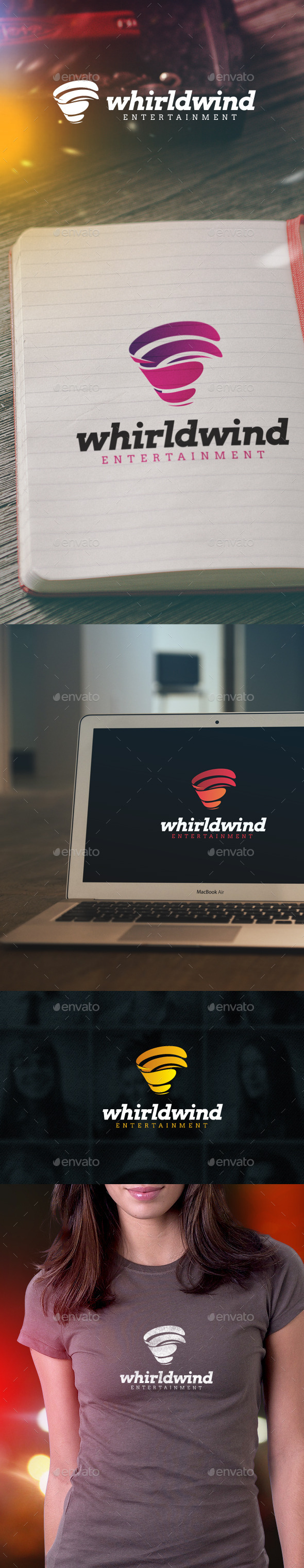 Whirlwind Entertainment Logo - Symbols Logo Templates