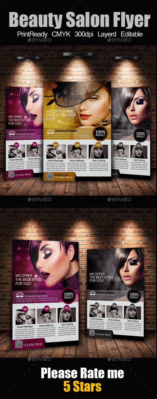 A4 Beauty Salon Flyer - Commerce Flyers