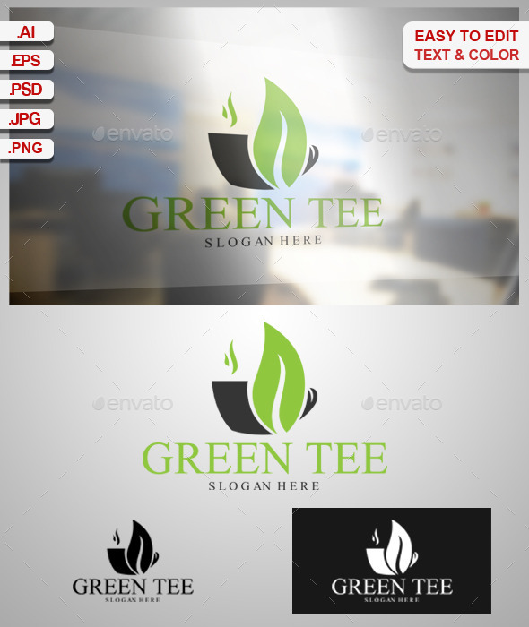 Green Tee - Food Logo Templates