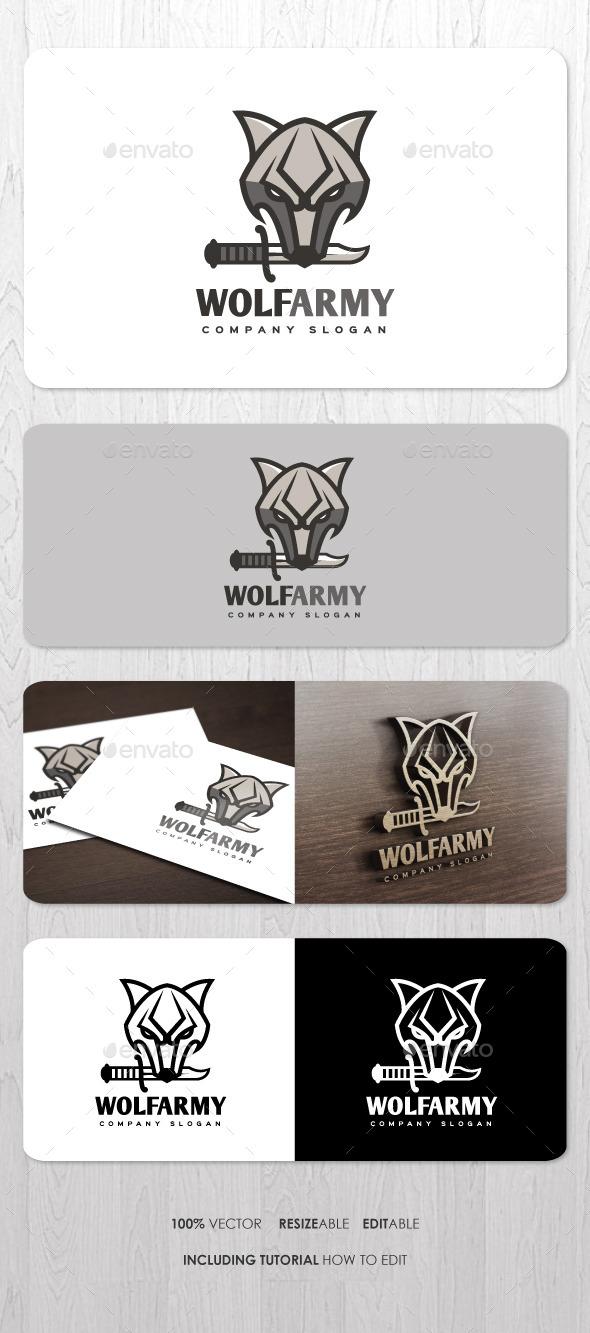 Wolf Army Logo - Animals Logo Templates