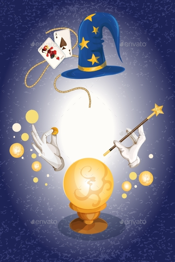 Magician Background - Decorative Vectors