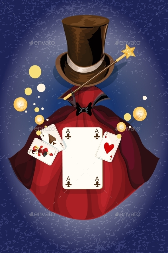 Magician Colored Background - Decorative Vectors