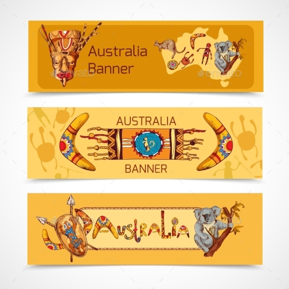 Australia Banners  - Travel Conceptual