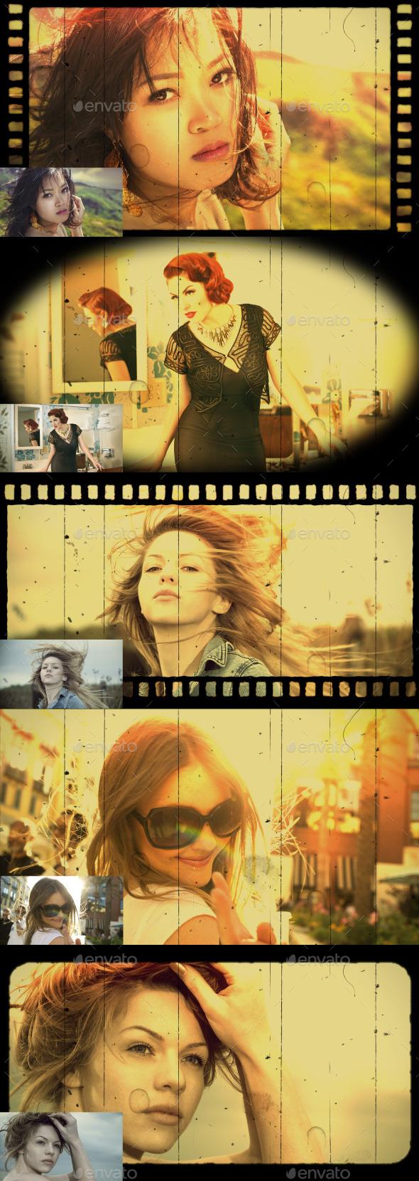 Retro Overlay - Artistic Photo Templates