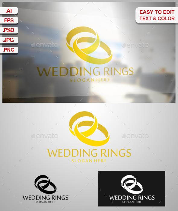 Wedding Rings - Symbols Logo Templates