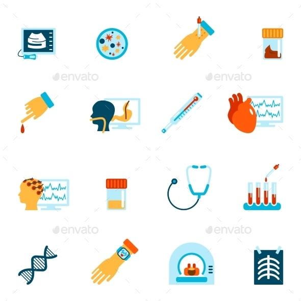 Medical Tests Icons - Health/Medicine Conceptual
