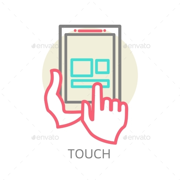 Touch Screen Tablet PC Sign Icon - Computers Technology