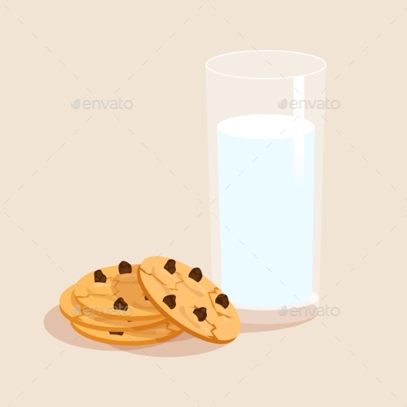Milk and Cookies - Food Objects