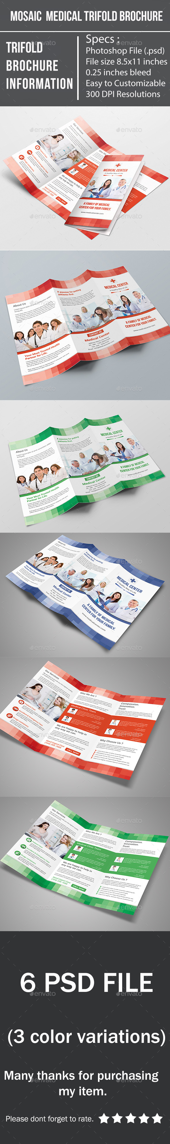 Mosaic Medical Trifold Brochure - Corporate Brochures