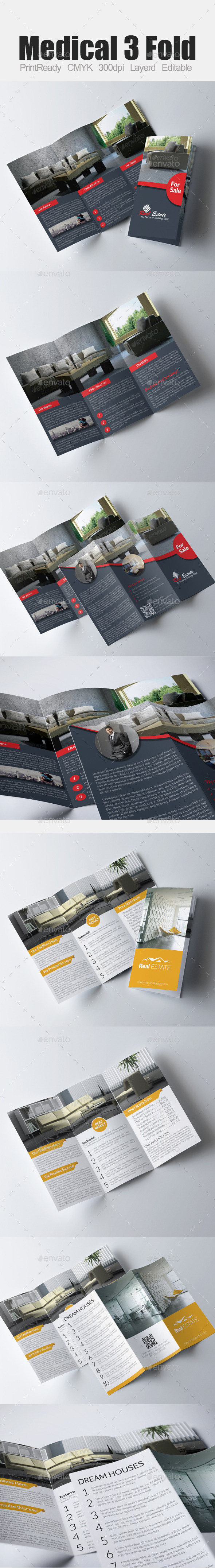 Tri Fold Real Estate Bundle - Corporate Brochures