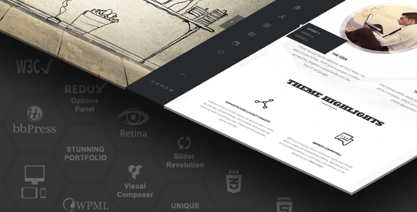 Rebloom - Responsive Vertical Menu Split Page Theme - Corporate WordPress