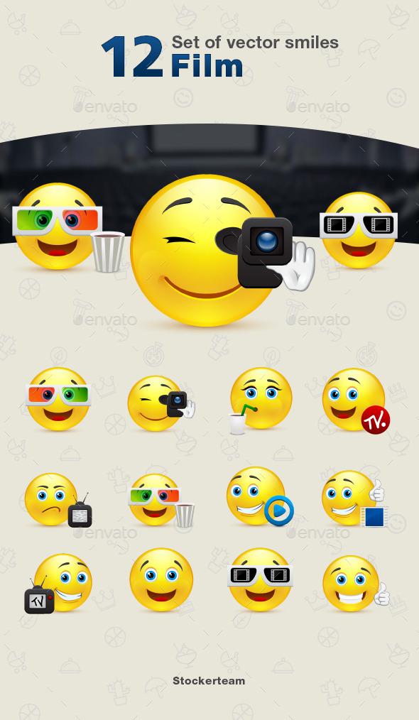 Smiles 12 Film - Characters Vectors