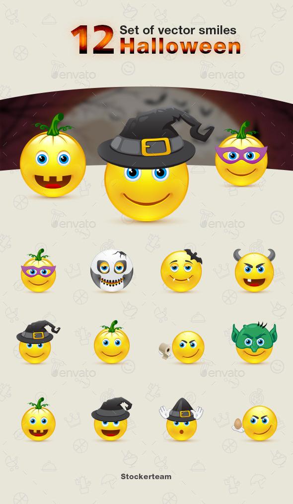 Smiles 12 Halloween - Characters Vectors