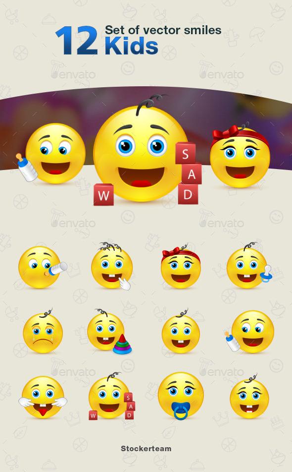 Smiles 12 Kids - Characters Vectors
