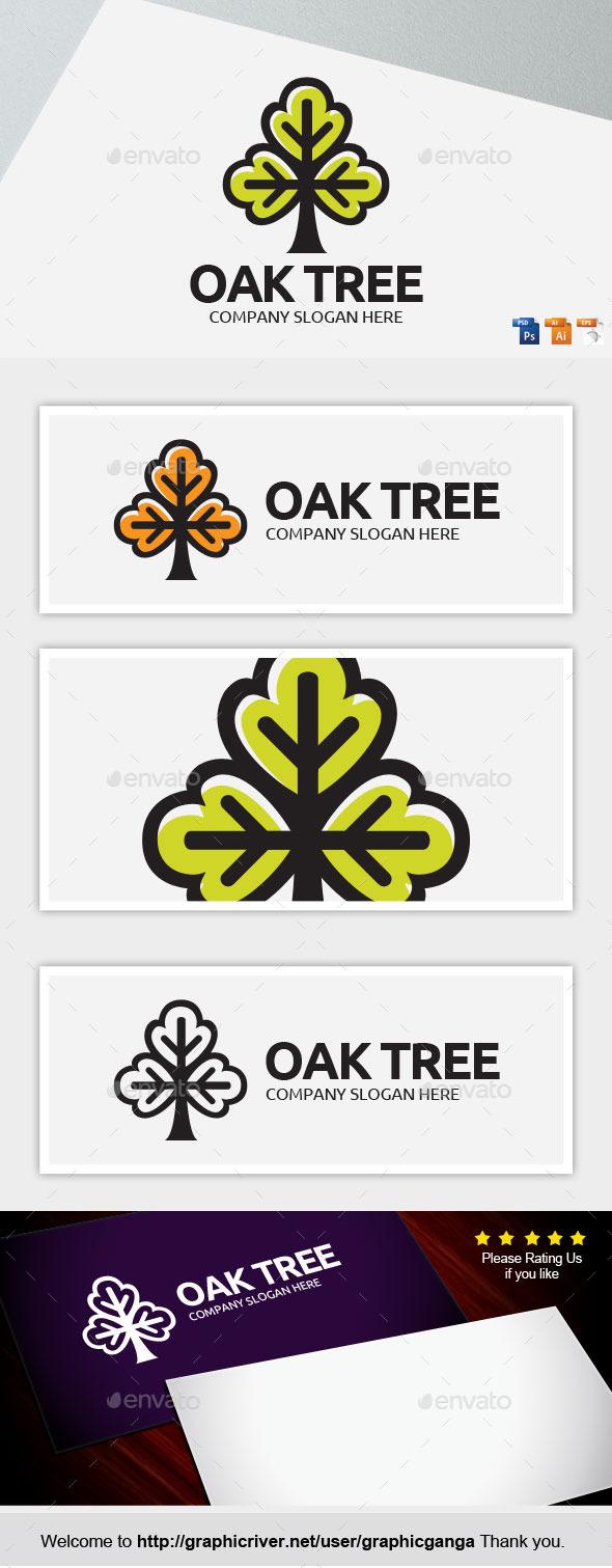 Oak Tree - Nature Logo Templates