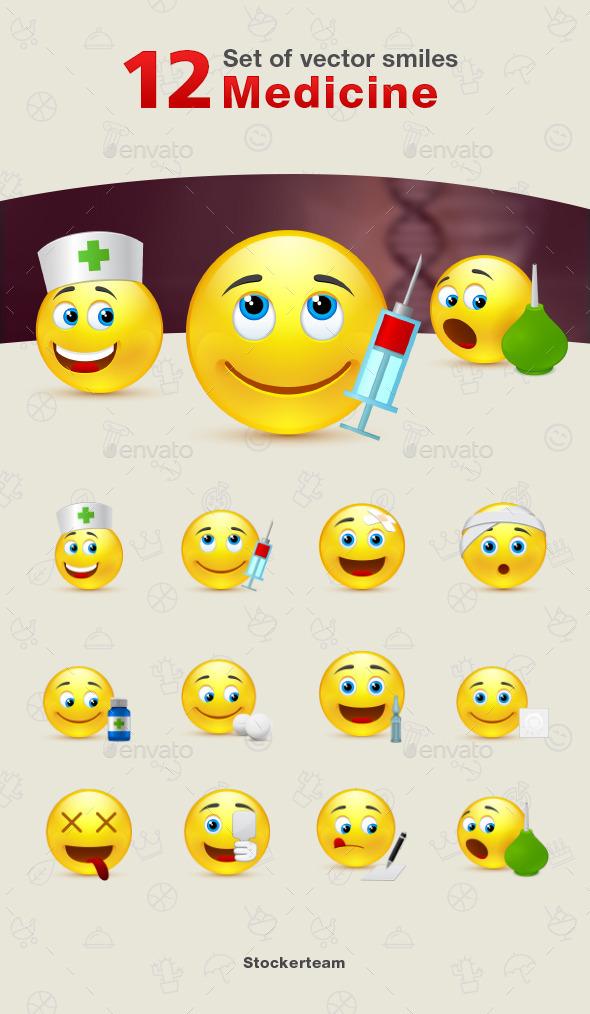 Smiles 12 Medicine - Characters Vectors