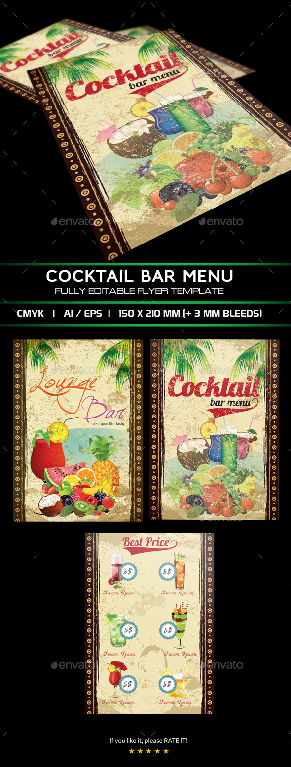 Cocktail Menu - Food Objects