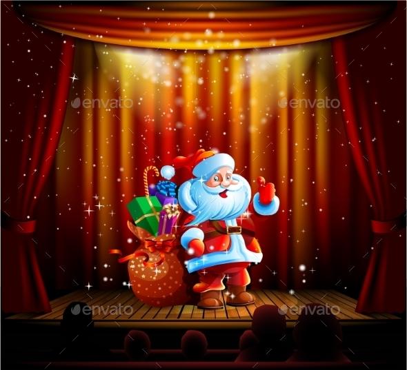 Santa Orator Scene - Christmas Seasons/Holidays