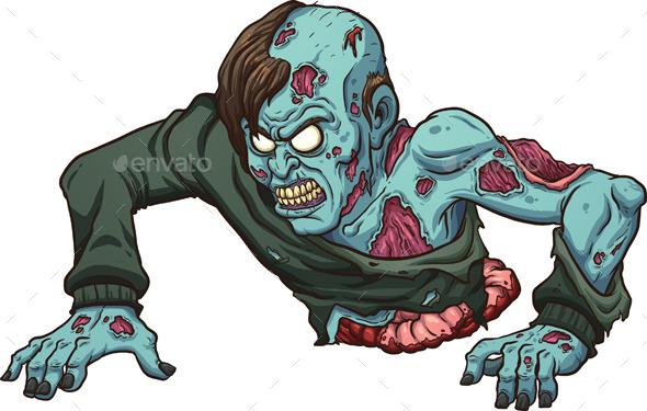 Crawling Zombie - Halloween Seasons/Holidays