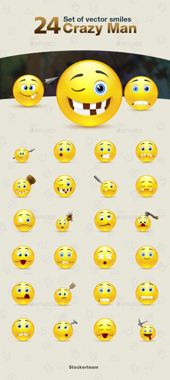 Smiles 24 Crazy Man - Characters Vectors