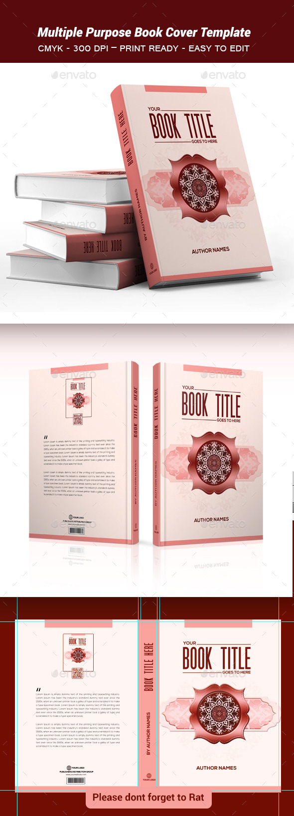 Multiple Purpose Book Cover Template2 - Print Templates