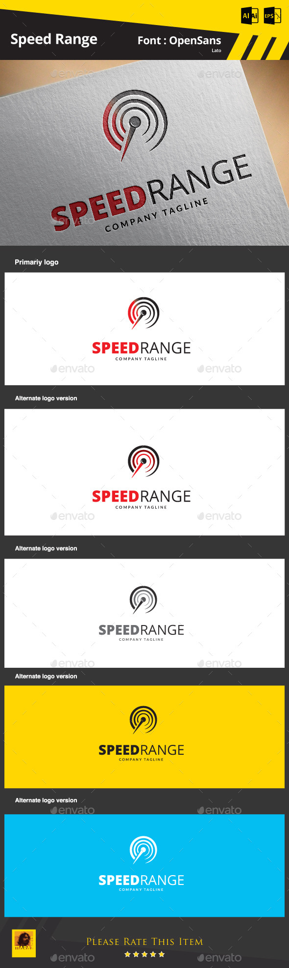 Speed Range Logo Template - Objects Logo Templates