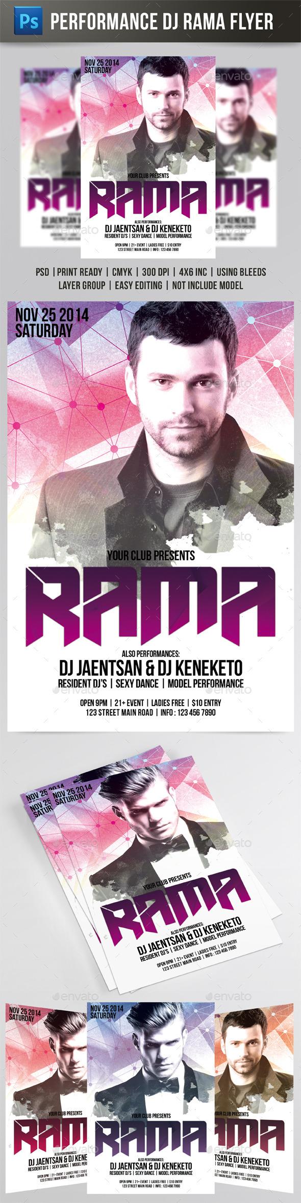DJ Rama Flyer - Events Flyers
