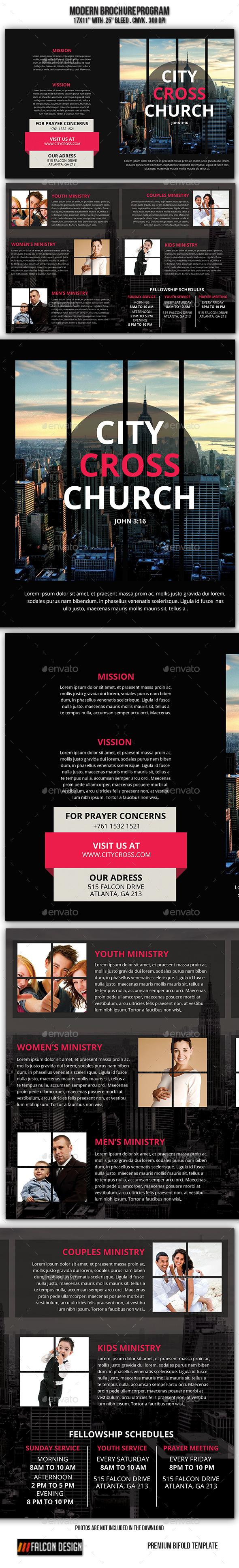 Modern Church Brochure - Informational Brochures
